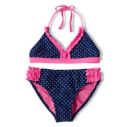 Breaking Waves Dotty 2-pc. Swimsuit - Girls 6-16