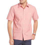 IZOD® Short-Sleeve Chambray Shirt