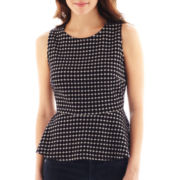 Worthington® Tipped Peplum Top - Petite