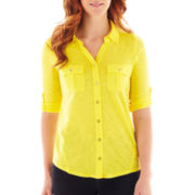 Liz Claiborne® 3/4-Sleeve Knit Shirt