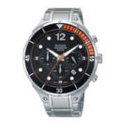 Pulsar® Mens Stainless Steel Chronograph Watch PT3635