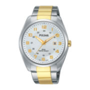 Pulsar® Mens Two-Tone Stainless Steel Watch PH9070