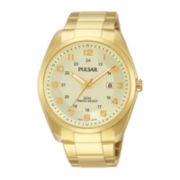 Pulsar® Mens Gold-Tone Stainless Steel Watch