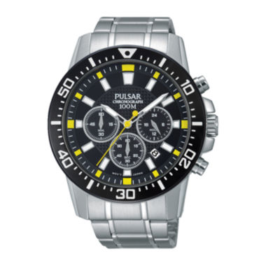 jcpenney.com | Pulsar® Mens Stainless Steel Chronograph Watch PT3641X