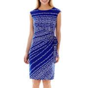 R & K Originals® Sleeveless Side-Tie Knit Dress