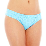 Bisou Bisou® Crochet Side-Tab Hipster Swim Bottoms