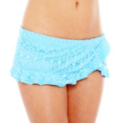 Bisou Bisou® Crochet Ruffled Skirted Swim Bottoms