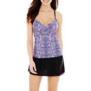 Beach Native® Paisley Print Tankini Swim Top or Solid Skirted Bottoms