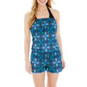 Stylus™ Print Romper Cover-Up
