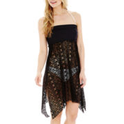 Stylus™ Strapless Crochet Dress Cover-Up