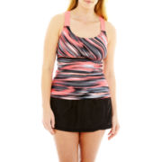 ZeroXposur® Wide-Strap Tankini Swim Top or Skirtini Bottoms - Plus