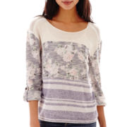 Late for Dinner Long-Sleeve High-Low Lace-Back Top