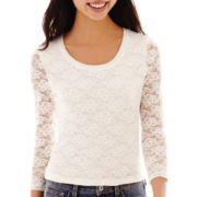 Arizona 3/4-Sleeve Lace Knit Tee