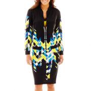 Bisou Bisou® Print Bomber Jacket, Colorblock Cami or Print Pencil Skirt