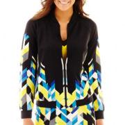 Bisou Bisou® Print Bomber Jacket