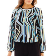 Bisou Bisou® Long-Sleeve Ribbed Crop Top
