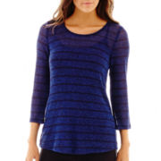 Alyx® 3/4-Sleeve Striped Top with Back Detail