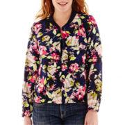 Liz Claiborne® Floral Bomber Jacket