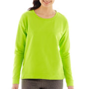 Liz Claiborne® Long-Sleeve Sweatshirt