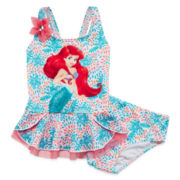Disney Collection 2-pc. Ariel Swimsuit – Girls 2-10