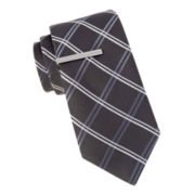 JF J. Ferrar® Addison Grid Slim Tie