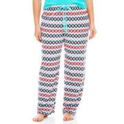 Insomniax® Print Knit Sleep Pants - Plus