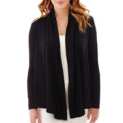 Liz Claiborne® Long-Sleeve Ribbed Cardigan Sweater