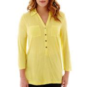 Liz Claiborne® 3/4-Sleeve Knit Tunic Top