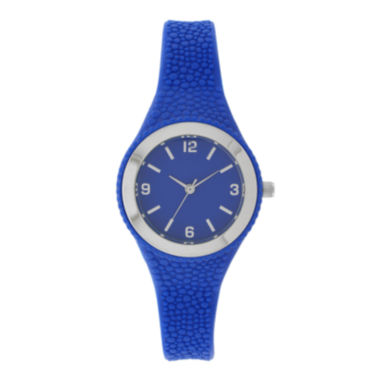 jcpenney.com | Womens Blue Rubber Strap Watch
