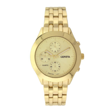 jcpenney.com | Geneva Womens Multifunction-Look Gold-Tone Bracelet Watch