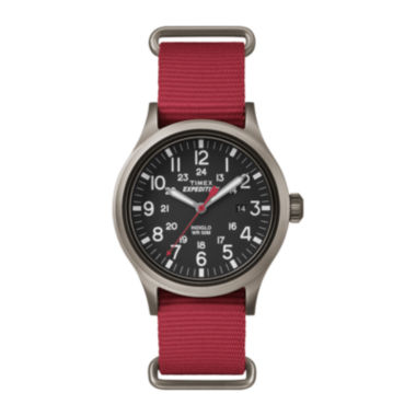 jcpenney.com | Timex® Expedition Scout Mens Red Fabric Strap Watch