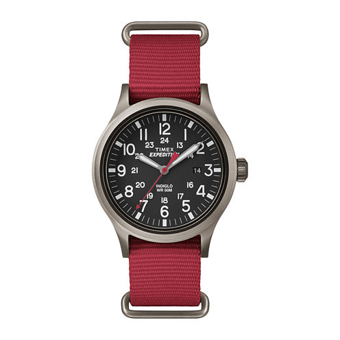 Timex® Expedition Scout Mens Red Fabric Strap Watch