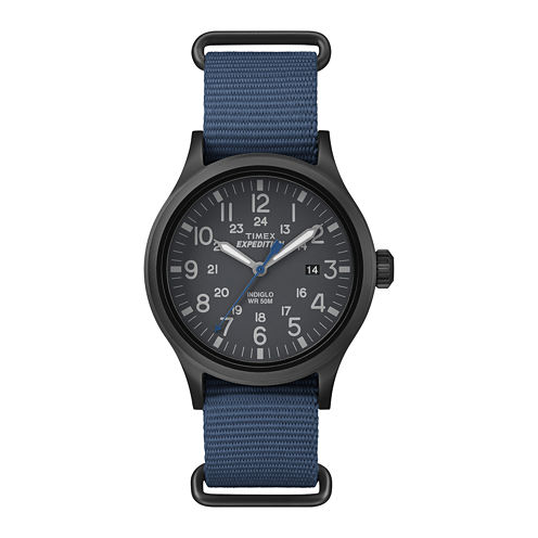 Timex® Expedition Scout Mens Blue Fabric Strap Watch