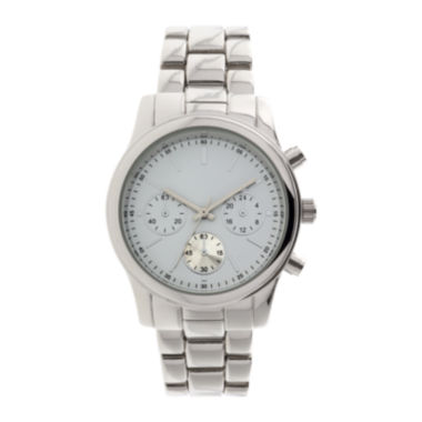jcpenney.com | Womens Teal Dial Silver-Tone Bracelet Watch
