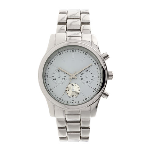 Womens Teal Dial Silver-Tone Bracelet Watch