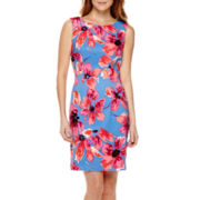 Alyx® Sleeveless Floral Print Sheath Dress