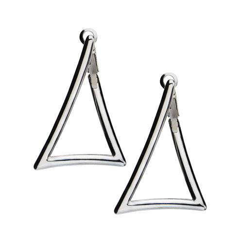 Stainless Steel Triangle Drop Earrings