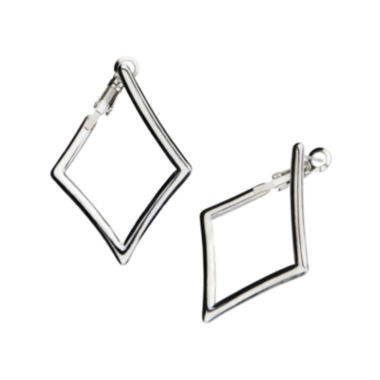 jcpenney.com | Stainless Steel Diamond-Shaped Drop Earrings