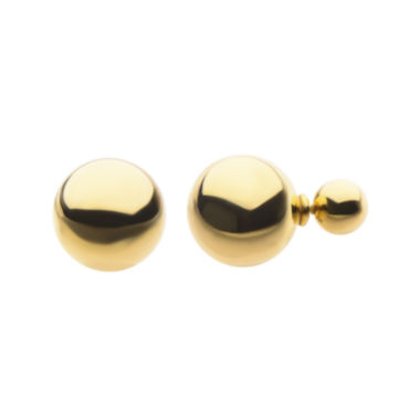 jcpenney.com | Yellow Ion Plated Stainless Steel Peek-A-Boo Stud Earrings