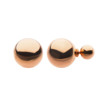 jcpenney.com | Rose Ion Plated Stainless Steel Peek-A-Boo Stud Earrings