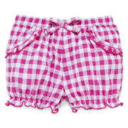 Okie Dokie® Denim Bubble Shorts - Baby Girls newborn-24m