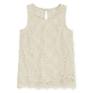 jcpenney.com | Arizona Allover Crochet Tank Top - Girls 7-16 and Plus