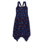 Arizona Americana Star Striped Sharkbite Dress - Girls 7-16 and Plus