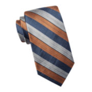 Collection by Michael Strahan Laredo Stripe Silk Tie - Extra Long