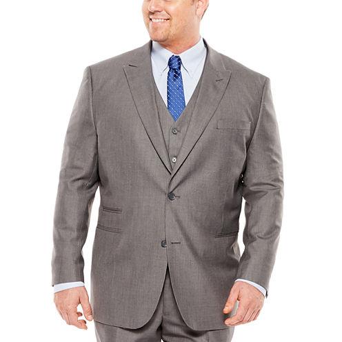 JF J. Ferrar® Sharkskin Suit Jacket - Big & Tall