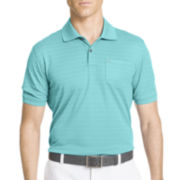 IZOD® Golf Textured Striped Polo