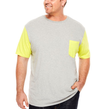 jcpenney.com | The Foundry Supply Co.™ Contrast Pocket Tee - Big & Tall
