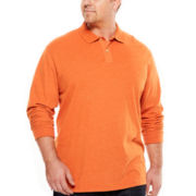 The Foundry Supply Co.™ Solid Suede Polo - Big & Tall