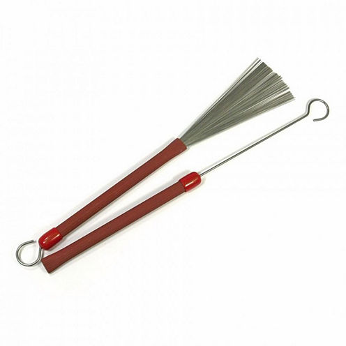 Ludwig L191 Red Grooved Handle Brushes + Loop End
