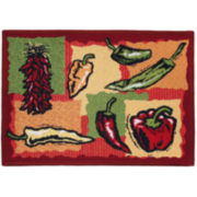 Hot Peppers Rectangular Rug
